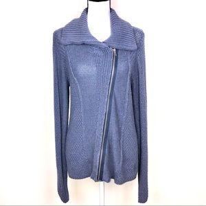 Calvin Klein zip front (Moto) sweater